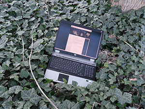 hp EliteBook 8730w field & lab instrument in ivy during Lakhvinder|TS experiments.